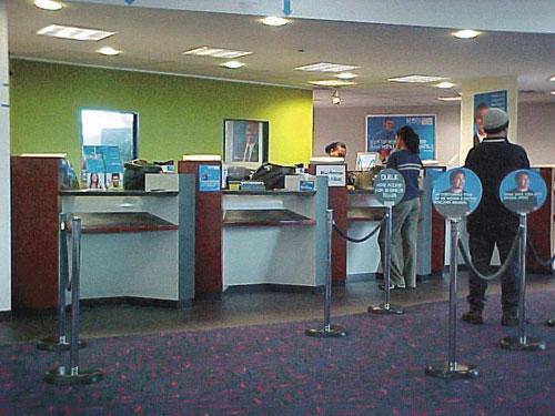 Drošības sistēmas klientu apkalpošanas vietās